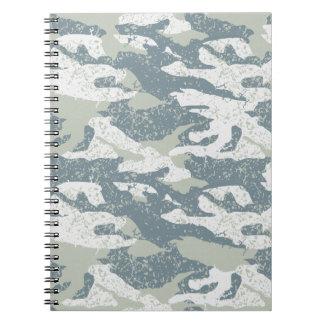 Cadernos Camuflagem disruptiva da neve