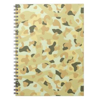 Cadernos Camuflagem disruptiva do deserto