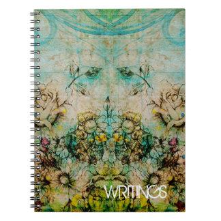 Cadernos Caras de florescência - verde