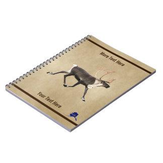 Cadernos Caribu de Bull (rena) no pergaminho