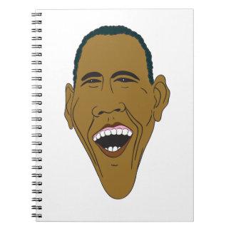 Cadernos Caricatura de Obama