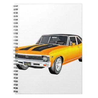 Cadernos Carro 1968 do músculo do ouro
