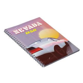 Cadernos Carro de esportes do sol de ajuste de Nevada EUA