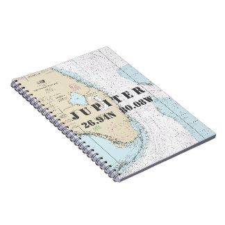 Cadernos Carta náutica da longitude da latitude de Jupiter