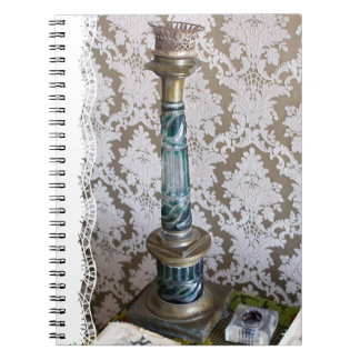 Cadernos Castiçal do vidro do vintage