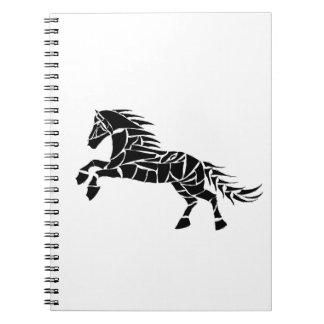 Cadernos Cavallerone - cavalo preto