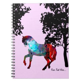 Cadernos Cavalo cor-de-rosa dos miúdos