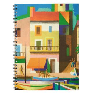 Cadernos Cena colorida do feriado