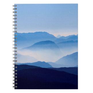 Cadernos Cena de relaxamento meditativo da paisagem das