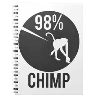 Cadernos chimpanzé de 98%