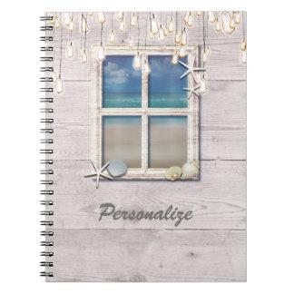Cadernos Chique elegante de madeira branco da janela
