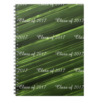Cadernos Classe customizável de 2017 metais do verde