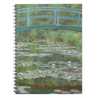 Cadernos Claude Monet | o passadiço japonês, 1899