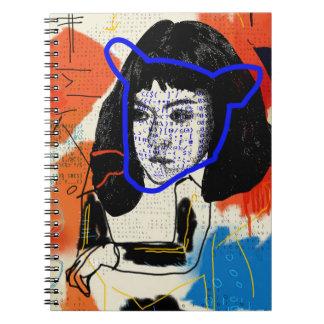 Cadernos Clone abstrato órfão do preto | MK - projeto Leda
