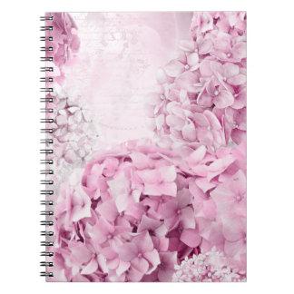 Cadernos Colagem do Pastel do Hydrangea da flor do