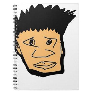 Cadernos coleção filipina da cara dos desenhos animados do