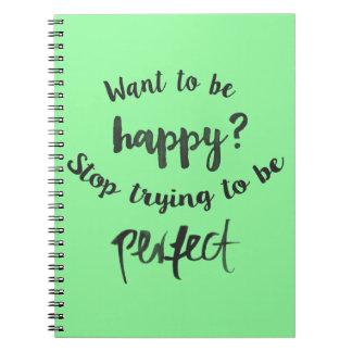 Cadernos Confiança, citações inspiradores da atitude da