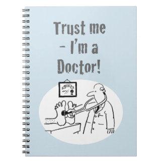 """Cadernos """"Confie-me - eu sou um doutor"""". Desenhos animados"""
