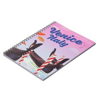 Cadernos Cópia das férias da gôndola de Veneza Italia
