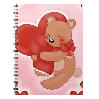 Cadernos Coração que aquece Teddybear