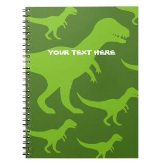 Cadernos Costume pré-histórico do trex do rex do