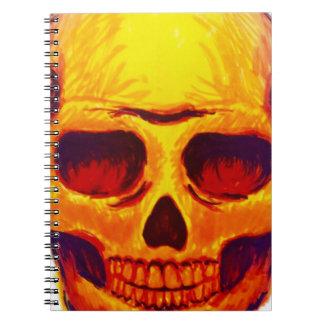 Cadernos Crânio do esboço