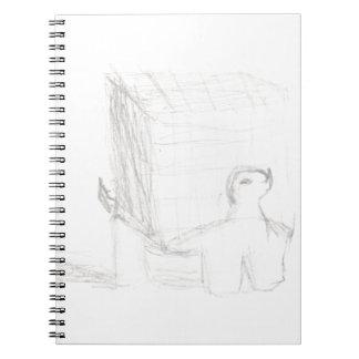 Cadernos cubo da tartaruga de caixa que tira Eliana