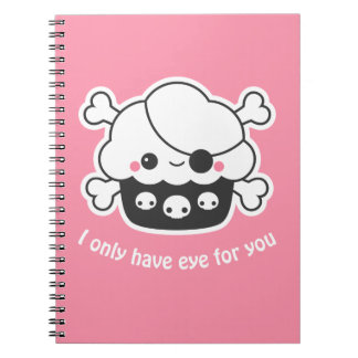 Cadernos Cupcake bonito do pirata