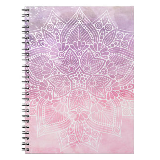 Cadernos Cura holístico & espiritual da mandala da aguarela