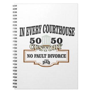 Cadernos custódia 50 50 em cada tribunal