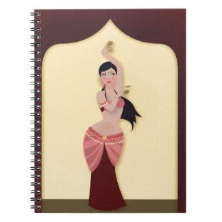 Cadernos Dançarino do Oriente Médio do dançarino de barriga