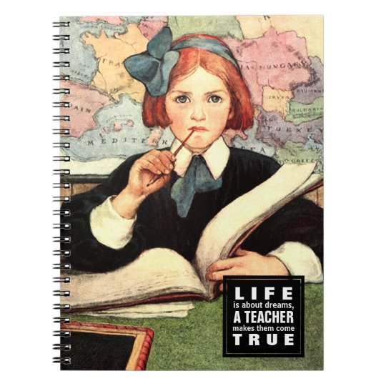 Cadernos de ensino do presente da arte do vintage