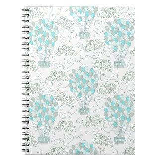 Cadernos Decoração do berçário do azul de turquesa dos