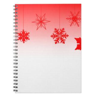Cadernos Decorações vermelhas do Natal