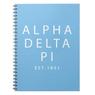 Cadernos Delta alfa Pi | Est. 1851