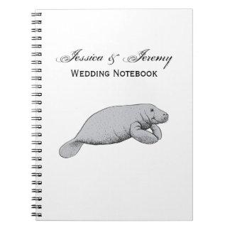 Cadernos Desenho do peixe-boi do vintage