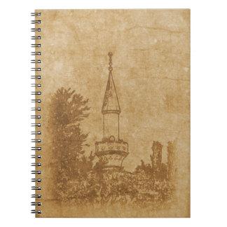 Cadernos Desenho do vintage da mesquita de Juma-Jami