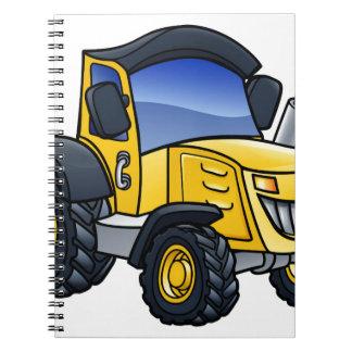 Cadernos Desenhos animados do veículo do trator