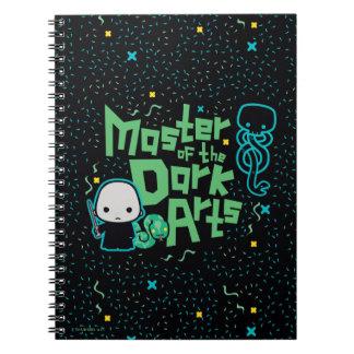 Cadernos Desenhos animados Voldemort - mestre das artes