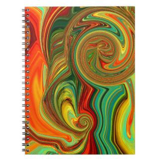 Cadernos Design abstrato brilhantemente corajoso nos