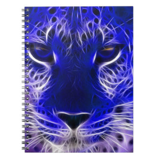 Cadernos design azul do fractal da chita