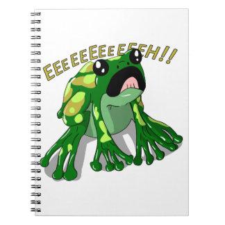 Cadernos Design gritando do macarronete do Doodle do sapo