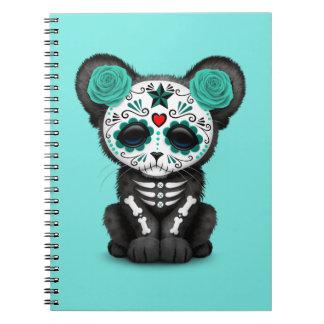 Cadernos Dia azul da pantera preta inoperante Cub