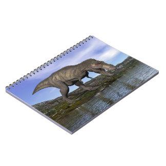Cadernos Dinossauro do rex do tiranossauro - 3D rendem