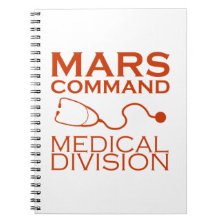 Cadernos Divisão médica do comando de Marte
