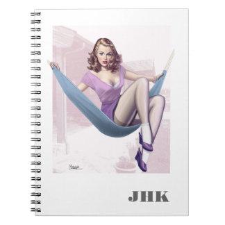 Cadernos do costume da ilustração da menina