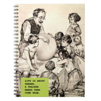 Cadernos do presente do design do vintage da