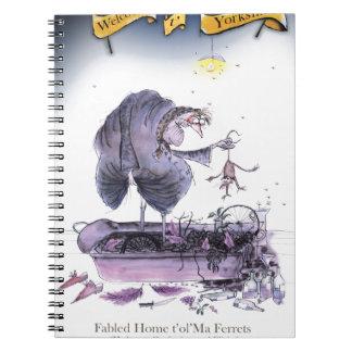 Cadernos doninha das mães do ol de yorkshire do amor