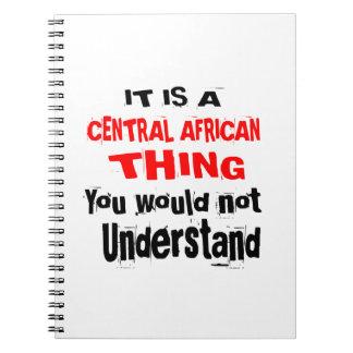 CADERNOS É DESIGN DA ÁFRICA CENTRAL DA COISA