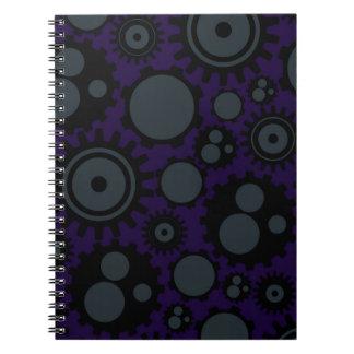 Cadernos Engrenagens de Steampunk do Grunge